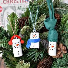 diy wine cork snowman tree ornaments