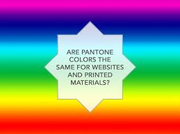 pantone color of the year hex are pantone colors the same for websites and printed material