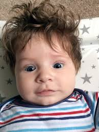 three year old haircuts 5 month old has so much hair he s had three haircuts since he was