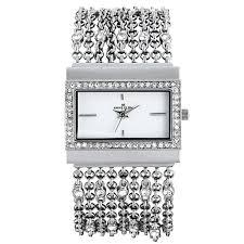 crystal bracelet watches images Ak anne klein women 39 s 109707wtsv swarovski crystal silver tone jpg