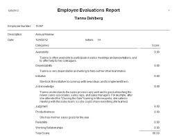 employee evaluations employee performance evaluation template