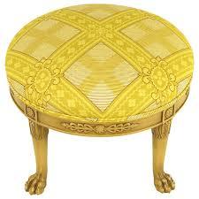 Mahogany Ottoman S Paw Glazed Mahogany And Saffron Silk Empire Style