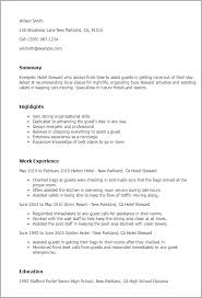 Hotel Housekeeping Resume Sample by Resume Example For Hotel Templates