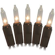 50 clear brown cord wire light set home kitchen