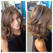 brand new long bob haircut with lots of texture and a fresh set of