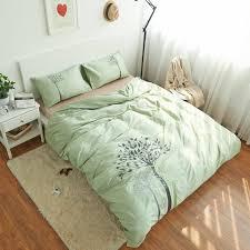green bed set 100 cottontree bedding set bed sheet light green duvet cover