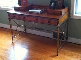 Campaign Style Desk Houndstooth Vintage