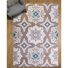 Taupe Area Rug Andover Mills Cerulean Blue Taupe Area Rug Birch