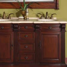 58 Double Sink Vanity 58 Inch Loraine Vanity Brazilian Rosewood Finish Double Vanity