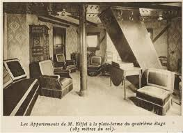 eiffel tower interior vintage photos of gustav eiffel s apartment in the eiffel tower