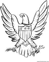 4th of july coloring pages for adults what a fantastic eagle