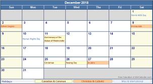 december 2018 calendar with holidays 2018 calendar with holidays