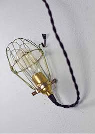 wire light bulb cage minimalist polished brass cage pendant barn light electric