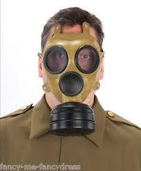 Halloween Costume Gas Mask Mens Ww2 Brown Gas Mask Halloween Fancy Dress Costume