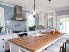 kitchen butcher block islands shown in the edge grain construction style with an eased edge and