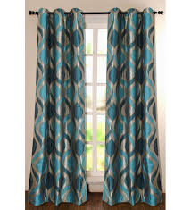 deco essential green polyester 60 inch window curtain set of 1