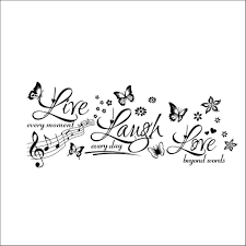 live laugh love wall sticker bedroom quotes wall decals wall sticker decals