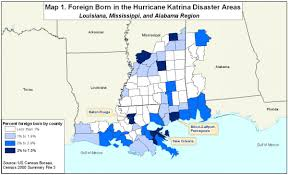 Map Of New Orleans Metro Area by Spotlight On Foreign Born In Areas Affected By Hurricanes Katrina