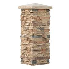 Front Porch Column Covers by Alpi Stone Column Wrap Lava 36