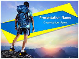 tourist hiking adventure sports powerpoint template background