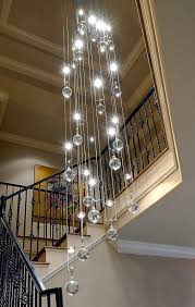 Light Fixture Chandelier Modern Stairwell Led Chandelier Lighting Large Bubble Crystal Ball