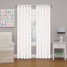 63 White Curtains Eclipse Kendall 63 In L White Rod Pocket Curtain 10707042x063whi