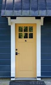 what your front door color says about you yellow front doors