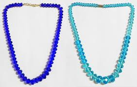 crystal bead necklace images Dark blue and light cyan crystal bead necklace jpg