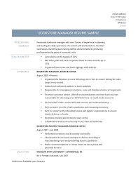 target resume examples bookstore manager resume samples online resume builders bookstore manager resume template and job description