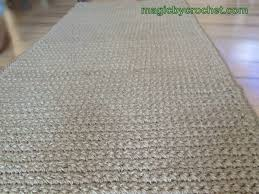 Cottage Rugs Long Hallway Runner Rug Handmade Jute Crochet Rug No 032