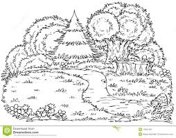 forest black and white clipart 2058547