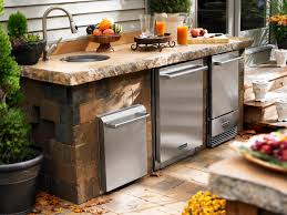 outdoor kitchen appliances hgtv hybrid fire grilling drawers