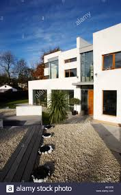 Patio Garden Doors by Modern Art Deco Style House With White Gravel Garden And Large