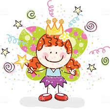 kid with princess halloween costume cartoon illustration stock
