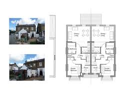 plans for semi detached house extension house plan