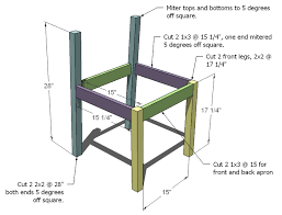 ana white modern angle chair diy projects
