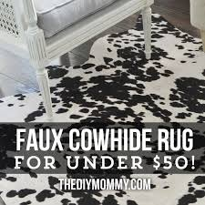Rugs Under 50 Faux Cowhide Rug Black And White Roselawnlutheran