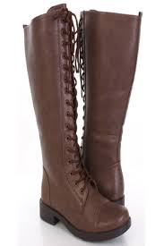 s boots knee high brown knee high leather boots lace up mount mercy