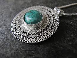 stone silver necklace images Jewelry silver necklaceeilat stone silver by morsilverjewelry jpg