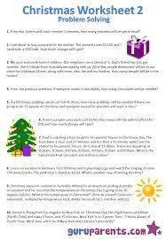 christmas worksheets guruparents