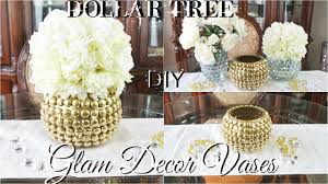 DIY DOLLAR TREE GLAM VASES DOLLAR STORE DIY GLAM VASES