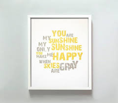 You Are My Sunshine Wall Decor Are My Sunshine Print By Gusandlula Etsy
