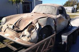 Vintage Cars Found In Barn In Portugal 1963 Porsche 356 Rusty And Wrecked Http Barnfinds Com 1963
