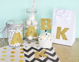 monogram letter stickers gold glitter monogram stickers set of 24