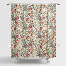 Paisley Shower Curtains with Paisley Floral Kadiri Shower Curtain World Market