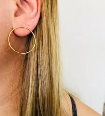 hoop studs earrings alv jewels