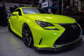 lexus rcf vossen lexus rc f sport in yellow fluorescent u2013 orafol vehicle wraps