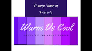 Shades Of Purple Warm Vs Cool Shades Of Purple Youtube