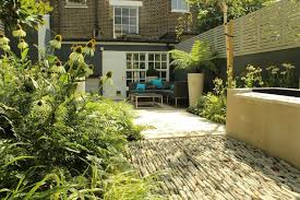 Townhouse Backyard Landscaping Ideas Backyard Landscaping Ideas Dense Greenery Complemented By A Rock