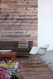 reclaimed wood wall living room modern with wood floor